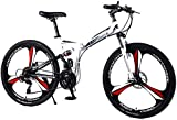 CFSAFAA Bicycle SKTY Bicycle Folding Road Bike Mountain Bike Brand Bicycles 21/24/27 Speed 24/26' Inch Rear Front Mechanical Disc Brake Bike 0720 (Color : 24inch, Size : 27speed) Various Bicycles