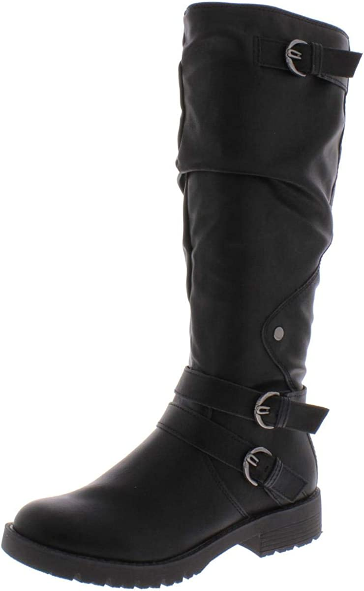 American Rag Womens Brinley Faux Leather Knee-High Riding Boots