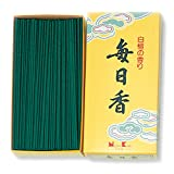Mainichi-Koh Sandalwood Incense 300pcs Incense Sticks by NIPPON KODO, Japanese Quality Incense, Since 1575