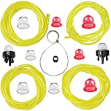 HUSWELL 4 Size 4 Feet Small Engine Fuel Line Primer Bulb kit for Zama Husqvarna Poulan Craftman Ryobi Homelite Chainsaw Trimmer Blower Weed Eater Carburetor with AC04122 Fuel Line kit