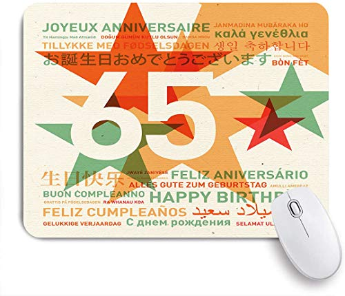 HASENCIV Alfombrilla de Ratón,Impresión de Idiomas de cumpleaños,Alfombrilla de ratón Gaming,Base de Goma Antideslizante,Mouse Pad para Oficina 24 x 20 cm