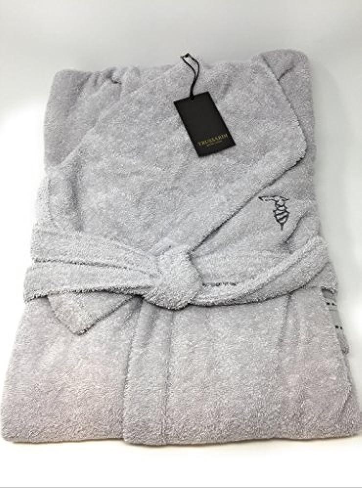 Trussardi home linen, accappatoio con cappuccio,in morbida spugna di puro cotone idrofilo Ribbon