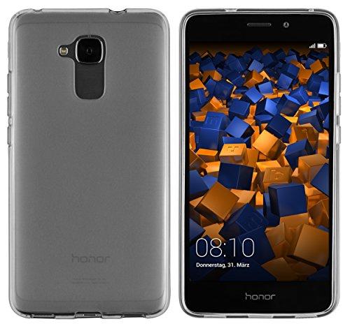 mumbi Hülle kompatibel mit Honor 5C Handy Hülle Handyhülle, transparent schwarz