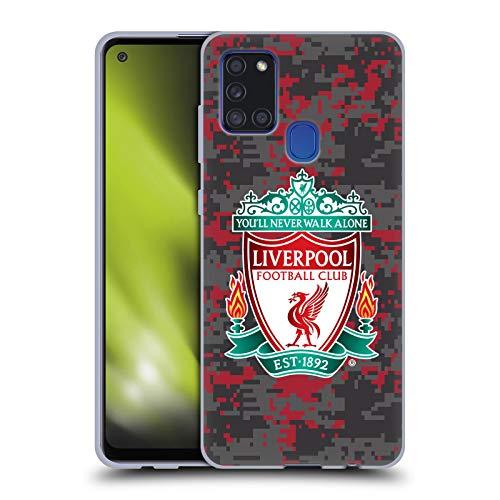 Head Case Designs Offizielle Liverpool Football Club Club Farben Wappen Digital Camouflage Soft Gel Handyhülle Hülle Huelle kompatibel mit Samsung Galaxy A21s (2020)