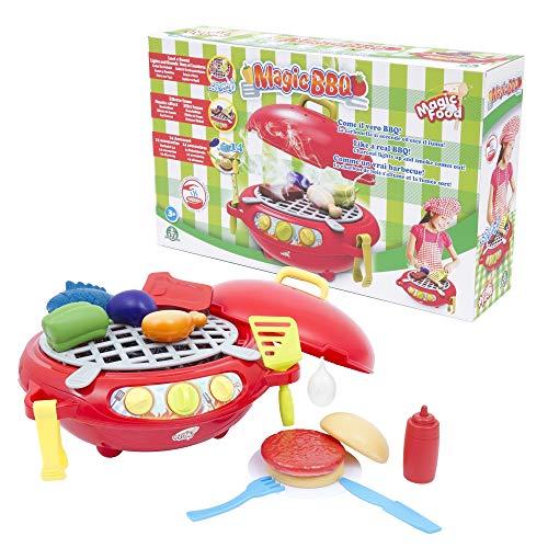 Magic BBQ - Barbacoa Mágica Playset de Cocina con Efecto de Humo, Luz y Sonido (Giochi Preziosi MA300000)