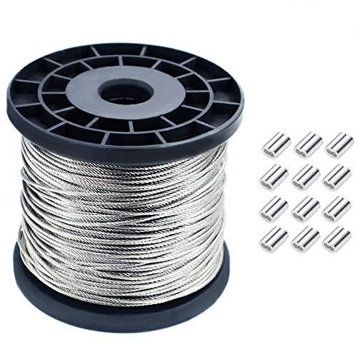 Vinyl Coated Wire Rope,1//16 Inch Diameter EFGTEK Stainless Steel 304 Wire Cable