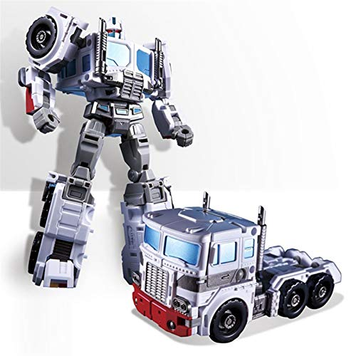 BurningYouth Transformers Model Toys, KBB Transformation Action Figure Robot Toys 16CM G1 Ultra Magnus White Commander OP PC-17 IDW Core Warrior,The Boy