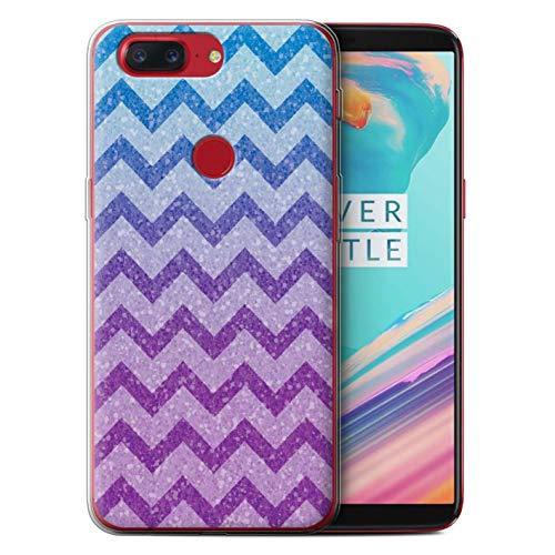 Stuff4® beschermhoes/cover/behuizing/gel/TPU/protetetiva bedrukt met motief Moda violet voor OnePlus 5T - oogschaduw Bella/Glitter