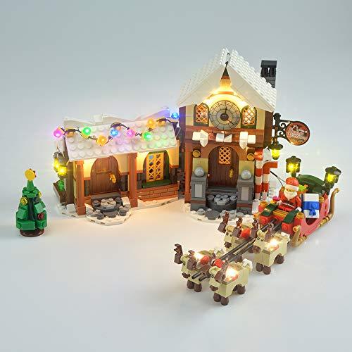 WCXWZ Kit Luci a LED per Mattoncini (Laboratorio di Babbo Natale), Accessori per Giocattoli Fai da Te (Solo Set di Luci), Set di Luci Compatibile con Lego 10225