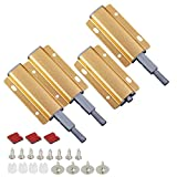3 cierres magnéticos para puertas correderas de alto rendimiento con cierre a presión, para armarios, cajones de cocina, armarios (dorados)