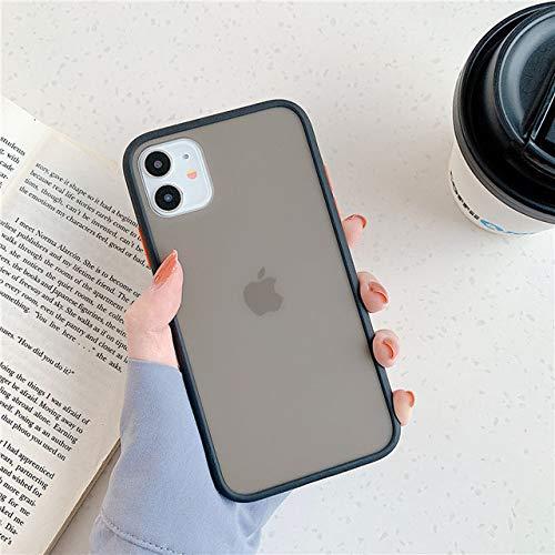 LIUYAWEI Funda Protectora Mate híbrida Simple Mint para iPhone SE 2020 11 Pro MAX X XR XS MAX 8 7 Plus Funda de Silicona Suave a Prueba de Golpes, 2, para iPhone XR