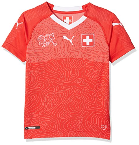 PUMA Suisse Kinder Home Replica Shirt, Puma Red-Puma White, 152