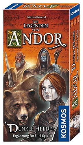 Kosmos 692841- Die Legenden von Andor- Dunkle Helden, Ergänzung für 5-6 Spieler für das Grundspiel Die Legenden von Andor und Die Legenden von Andor Teil III: Die letzte Hoffnung, Brettspiel