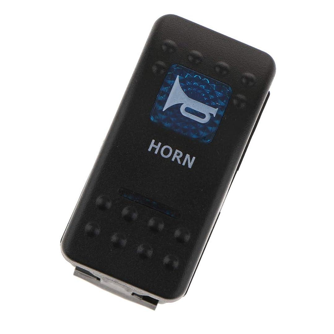 ソブリケット破壊する広くモーメンタリー LED ホーンスイッチ 12V プッシュボタン トグルスイッチ 青色