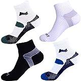 Laulax - 4 pares de calcetines Coolmax profesionales para correr, 2 pares de protección de empeine, 2 pares de compresión, talla Reino Unido 7–11/Europa 41–46, para hombre, set de regalo