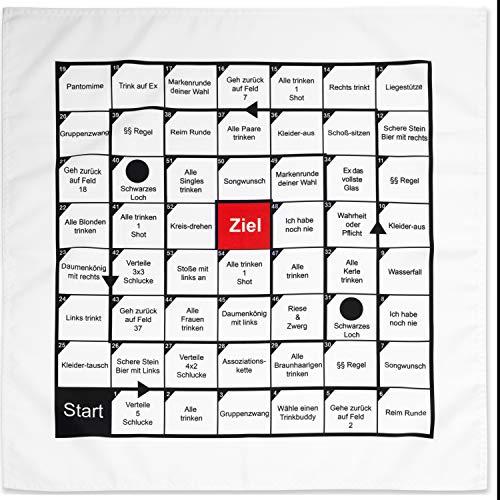 Your Day Mate [DEUTSCHE Version], Polnisches Partyspiel , auf 70 x 70 cm Tischdecke, 54 Spielfelder mit Aufgaben, Partyspiel , Partyspiel für Geburtstag, Festival, Vorglühen, Brettspiel groß