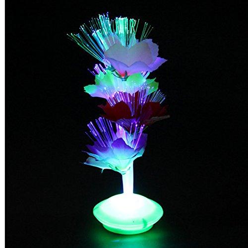 Bazaar Fibre optique noël de fleurs cadeau parti lampe coloré maison de veilleuse