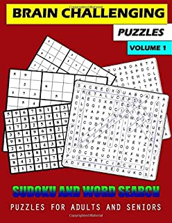 Brain Challenging Puzzles Volume 1: Sudoku and Word Search puzzles for adults and seniors (Easy puzzles, large print) (tra...