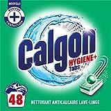 Calgon Hygiene Plus - Pastiglie anticalcare per lavatrice, confezione da 48