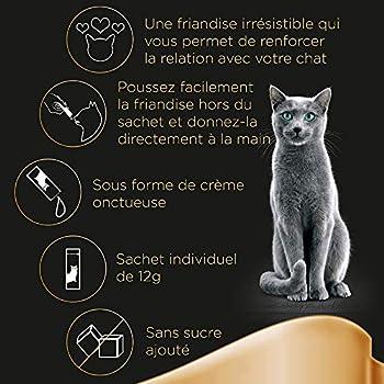 Sheba Creamy Snacks pour Chat Adulte – Friandise Crémeuse - au Saumon – 20 x 4 x 12g Sachets Snack Gourmand pour Chats