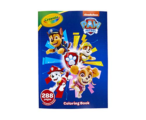 Crayola Paw Patrol Coloring Book with Stickers, Gift for Kids, 288 Pages, Ages 3, 4, 5, 6