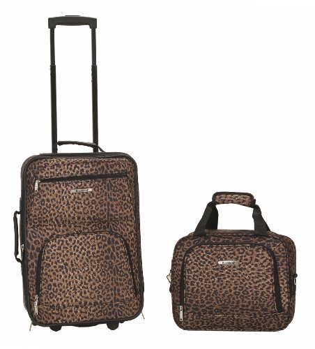 Rockland Fashion Softside Upright Luggage Set, Leopard, 2-Piece (14/20)