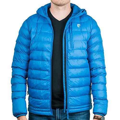 Alpin Loacker - Herren Steppjacke | Thermo- Übergangsjacke | Outdoor- Winterjacke (Blau, M)