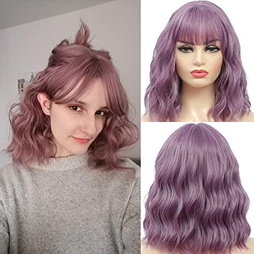comprar pelucas moradas cortas online