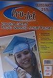 400 hojas de papel fotográfico Projet A4 255 g/m² de doble cara brillante/mate (mate)