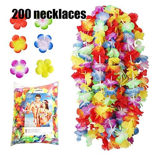 NNDOLL ® 200 Collana Hawaiana Ghirlanda Hawaii Fiori Multicolori economiche Bambini