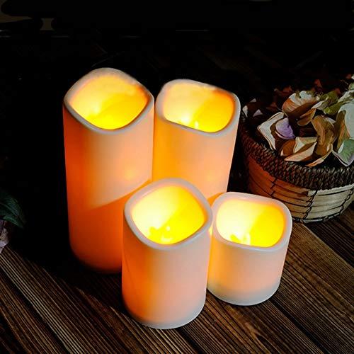XHSHLID 7 cm flikkerende cilinder zonder vlam LED-lampen voor nachtlampje, batterij-aangedreven theelichtjes voor theelichtjes