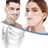 BeiYoYo Durable Clear Face Mask, Reusable Transparent Face Protection, Visible Expression,Breathable and Prevent Glasses Fog (2PC)