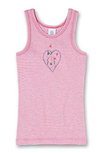 Sanetta Mädchen 333956 Unterhemd, Rosa (Kiss 3834), 92