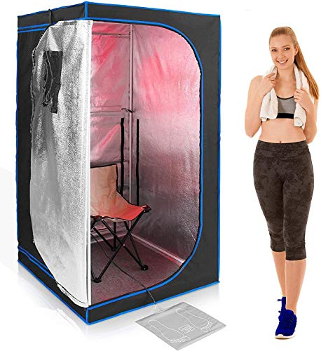 NYDZ Mobile Sauna 1500 W I Portable Infrarotsauna - Faltbare, Zusammenlegbare, Portable Infrarotsauna I Infrarotkabine Für 1 Person,Sauna-Dampfbad