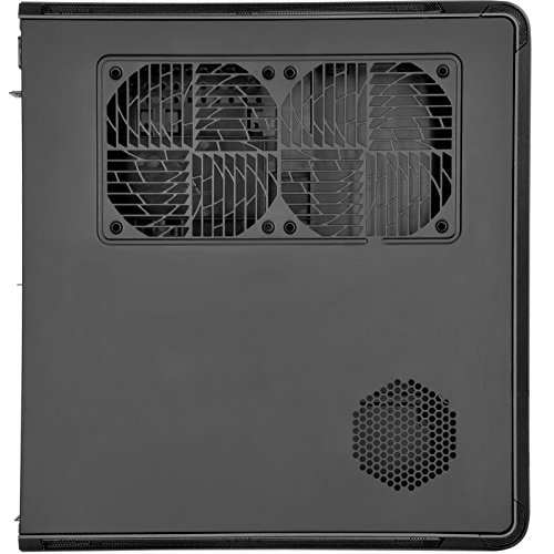 SilverStone Technology Fortress Z Aluminum Unibody Mini-ITX/DTX Small Form Factor SFX Computer Case with PCI-E Riser and Custom Low Profile Fans FTZ01B Black