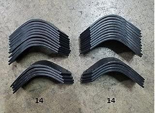 14 Each LH & RH Tiller Tines for Befco T30 Series Tiller 003-0104S & 003-104D