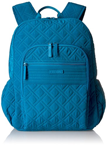 Vera Bradley Women's Microfiber Campus Backpack, Bahama Bay, One Size