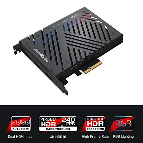 AVerMedia 4K-Live-Gamer, 4Kp60 HDR-Passthrough, PCI-E, extrem niedrige Latenzzeit, ideal für Xbox, Playstation und PC (GC570D)