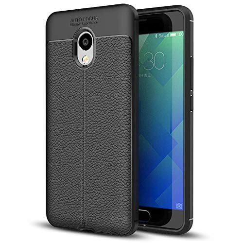 EASON Caja del teléfono -para Meizu M5 Caso de la Nota de protección Litchi Textura difusa TPU (Negro) Teléfono (Color : Grey)