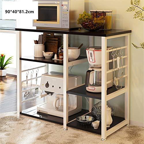 SXCDD Cuisine Four Micro-Ondes Rack,Multicouche Multi-Purpose Sol Porte-étagère De Cuisine Rack De Rangement Plat Rack Four Rack-b