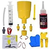 Kit de Purga CYCOBYCO Embudo/tapón de Aceite para Frenos de Disco de Carretera MTB hidráulicos Shimano con Kit de Purga de Fluido de Aceite Mineral de 60 ml