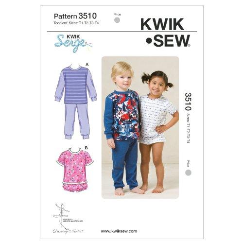 KWIK SEW Schnittmuster 3510 Pyjama T1-T2-T3-T4 (80-104)