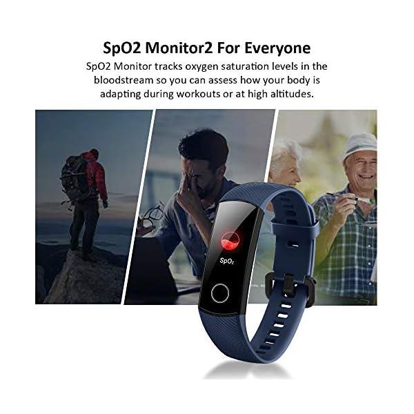 HONOR Band 5 Pulsera Actividad Inteligente Pulsera de Actividad con Pulsómetro SpO2 Sueño Podómetro Monitor de Actividad… 2