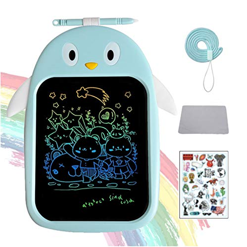 JZAQ LCD Writing Tablet 8.5 Inch Colorful Screen Doodle Board for Kids Toys, Electronic Drawing Board Kids Doodle Pad Educational and Learning Toys for Girls Boys Gifts (Blue)