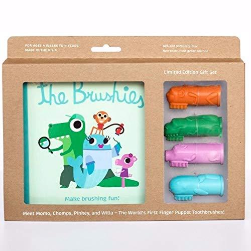 The Brushies Brosse à dents en silicone pour bébé et enfant avec tous les personnages