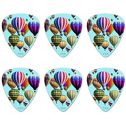 Hete lucht ballonnen bekleed novelty gitaar plukt medium gaas - Set van 6