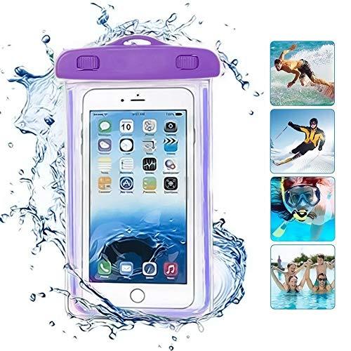 ONX3 Lila universal wasserdicht Handy Strand Pool Regen dokument wertsachen schutzhülle Tasche kompatibel mit Wiko K-Kool