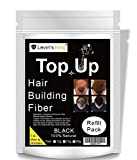 Levins King Hair Building Fiber, Black, 25g - Pack of 1