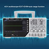 Hantek Osciloscopio 220V DSO4254C Osciloscopio de almacenamiento 64K 4 canales Osciloscopio digital 250MHz Fuente de señal 1GSa / s