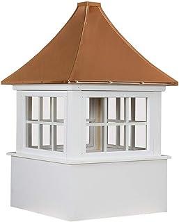 "Cupola Carlisle 30"" Base Windows 6 Lite Copper Pagoda Roof"